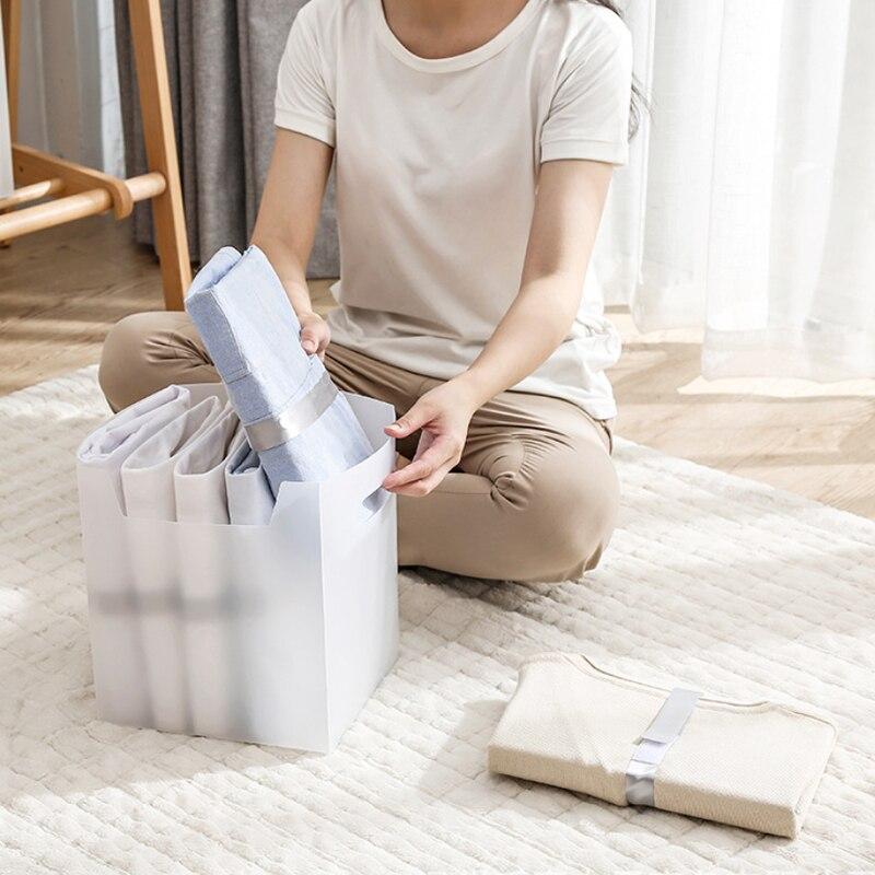 factory direct sales lazy folding plate template t shirt shirt storage box folding clothes