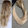Full Shine Balayage Color Remy Human Hair Extensions Clip ins Extension Stropez Ombre Color 9Pcs/ Set Clip in Extensions 100g