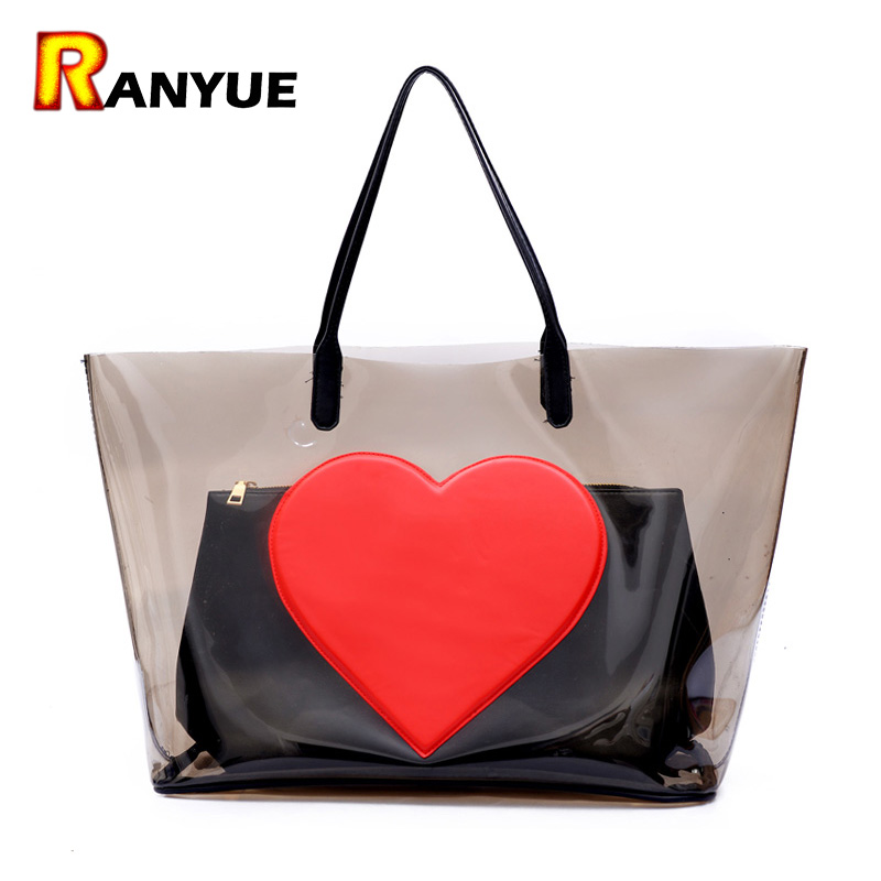 Big Summer Beach Bag PVC Clear Transparent Bags Handbags Women Famous Brand Women Shoulder Bags Large