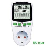 Inteligentny zasilanie prądem zmiennym miernik licznik energii watomierz gniazdo podświetlenie częstotliwość prądu energii elektrycznej Monitor ue/US/UK wtyczka w Liczniki energii od Narzędzia na