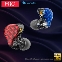 FiiO FA7 hifi earphone Metal Case Knowles Detachable Cable MMCX Design Quad Driver Hybrid Earphone 3.5mm plug