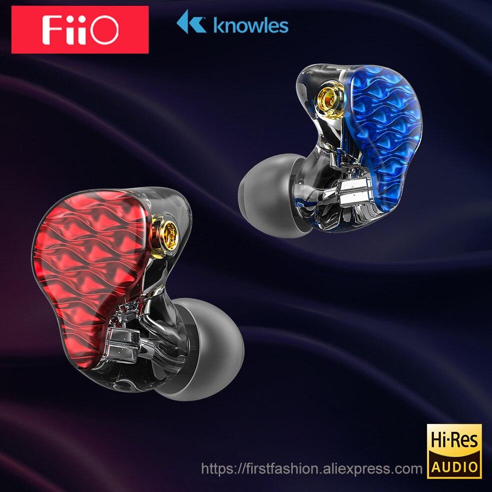 FiiO FA7 hifi trasduttore auricolare del Metallo Caso Knowles Staccabile Cavo MMCX Disegno Quad Driver Ibrido Trasduttore Auricolare di 3.5mm