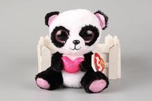 ON SALE Genuine Original Ty Beanie Boos Cutie Pie The Panda with Heart Plush