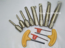 New 8pcs indexable boring bar with 20mm shank for NBH2084 Boring Head 8-280mm boring range and 4pcs spanners