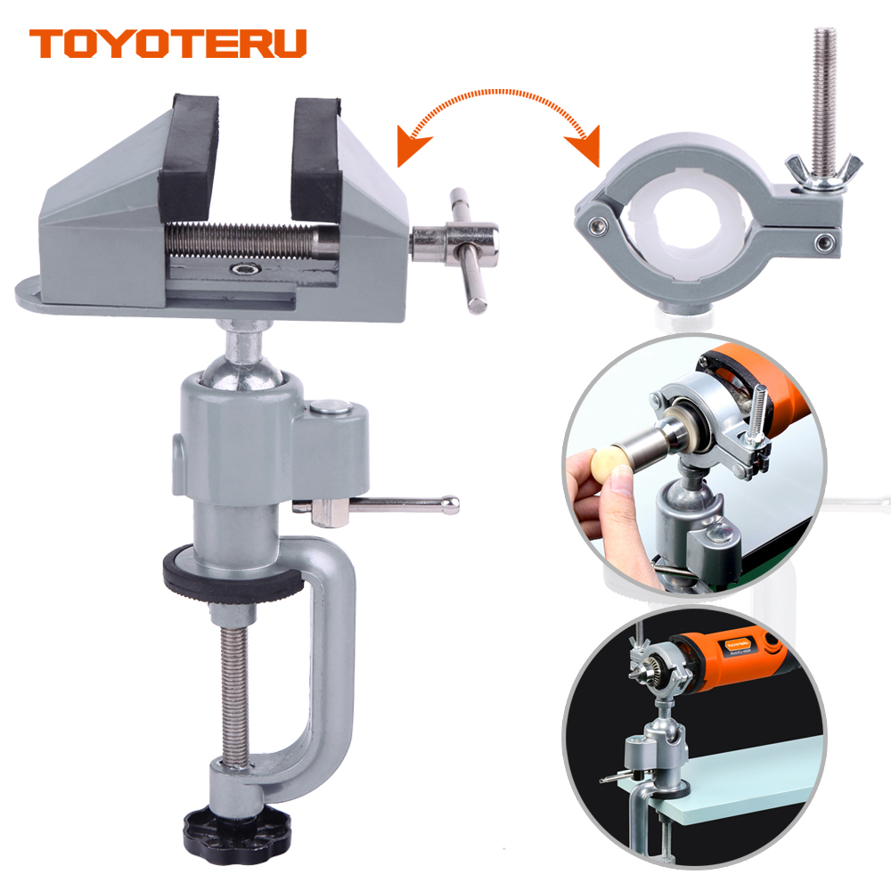 2 in 1 table vise Bench Clamp Vises Grinder Holder Drill Stand for Rotary Tool,Craft,Model Building,Electronics,Hobby image