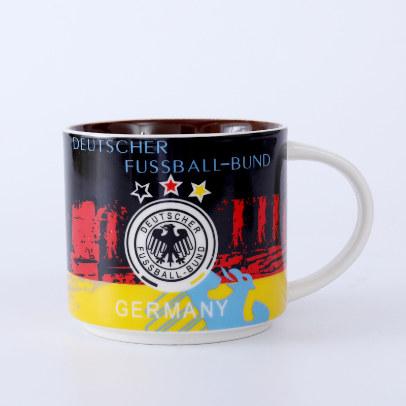 Dropshipping Brazil Argentina Germany Spain Ceramic Cup England Bar Beer Cup Ceramic Coffee Mugs Gift Mug Кубок