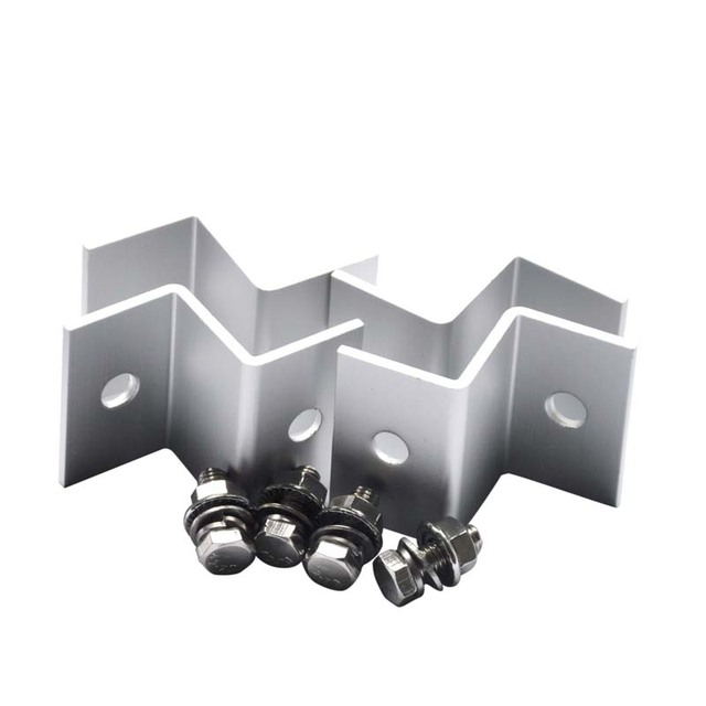 Z Brackets Solar Panel Mounting Kits Sets For RV Boat Car Truck Caravan Home Mounted Off Grid Roof