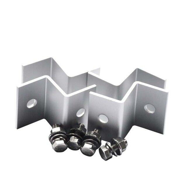 Z 브래킷 RV 보트 용 솔라 패널 장착 키트 세트 자동차 트럭 캐러밴 홈 그리드 루프 장착