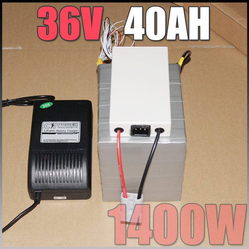 36V 40Ah LiFePO4 Battery Pack ,1400W Electric Bicycle Battery + BMS - Cycling - Photo 2