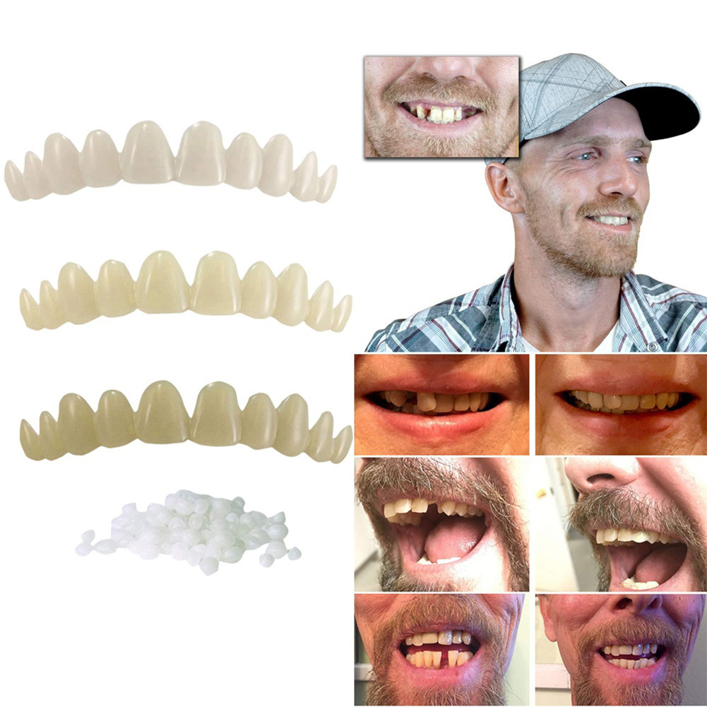 Newest Smile Natural Temporary Replace Missing Bad Teeth Cover Veneers Denture Oral Care Cosmetic Teeth Denture Teeth Top Cosmet 3
