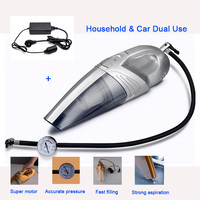 120W 4 In 1 Handheld Household And Car Vacuum Cleaner Hepa Filter Super Suction Wet Dry Dual Use With 5M Cable Power Converter