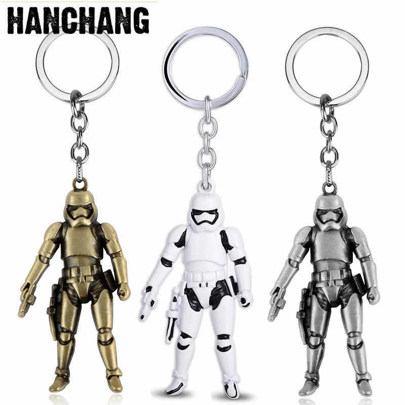 Cool Metal Keychain Star Wars Jewelry Storm Trooper Darth Vader 3D Robot Pendant Key Chain Keyring Car Key Holder Men Chaveiro