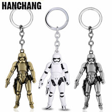 Cool Metal Keychain Star Wars Jewelry Storm Trooper Darth Vader 3D Robot Pendant Key Chain Keyring Car Key Holder Men Chaveiro famshin high quality top 2018 star wars keyring light black darth vader pendant led keychain for man gift free shipping