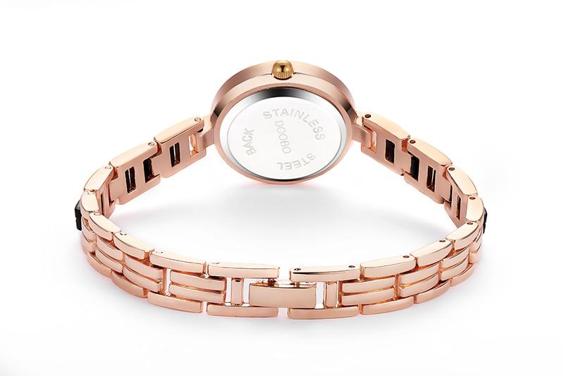 DOOBO luksusowa Moda damska zegarki zegarek kwarcowy bransoletka - Zegarki damskie - Zdjęcie 5