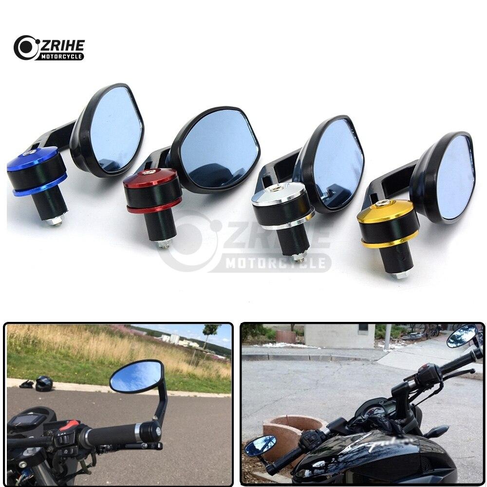 Fits 78 22mm Handlebar Ends Mirror Motorcycle Side Rearview Mirrors For Kawasaki ZRX1100 ZRX1200 ZX1100 ZZR1400 ninja250