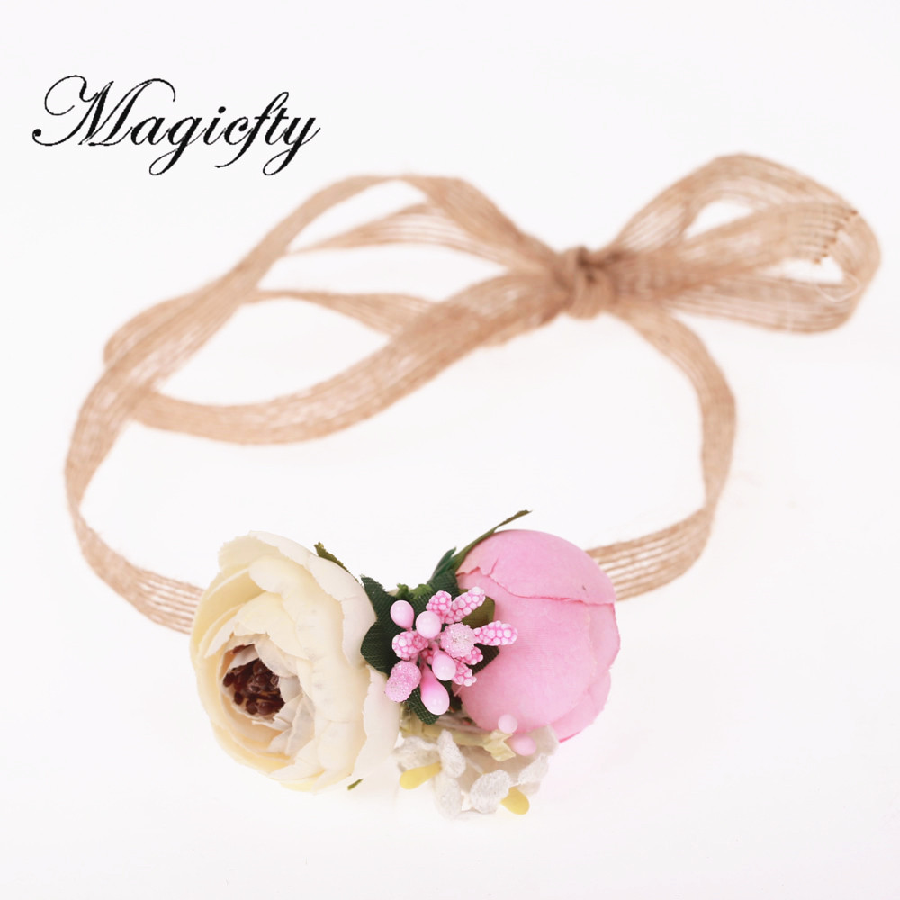 Ivory And Pink Flower Crown Headband Girl Ranunculus Flower