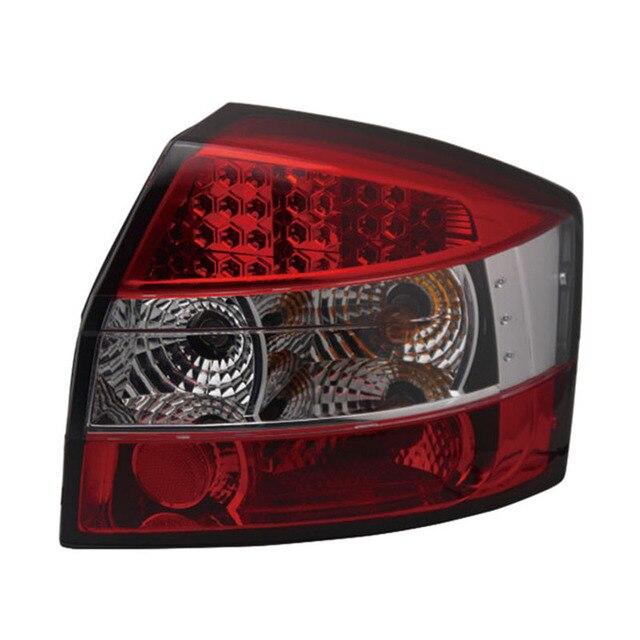 Audi A4 B6 S4 2001-2004 년을위한 고품질 LED 테일 라이트 (컨버터블 또는 왜건 모델에 맞지 않음) 빨간색 투명 하우징