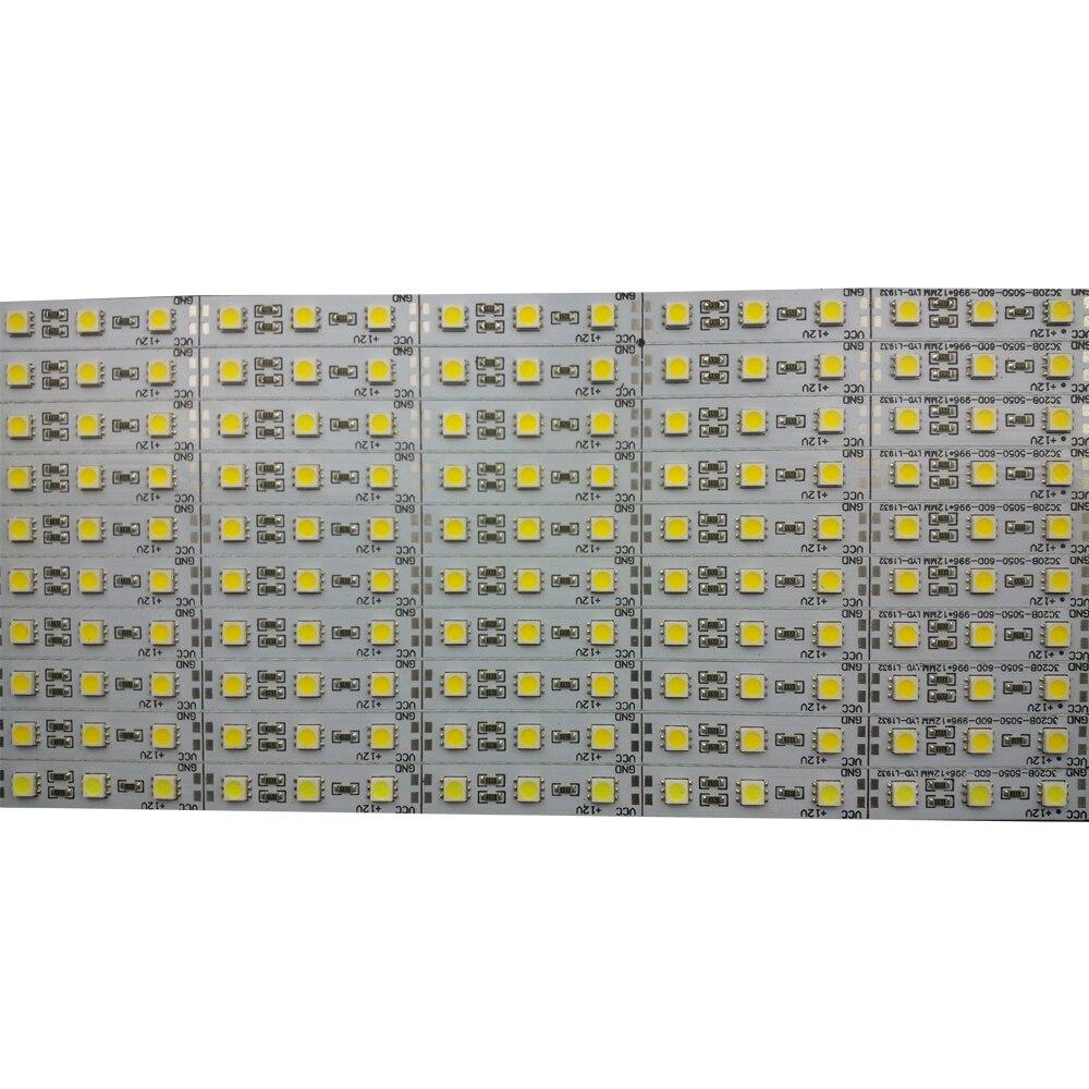 10pcs/Lot leds 0.5m LED bar light smd 5050 5630 7020 8520 4014 12V led rigid strip white warm cold RGB under cabinet kitchen