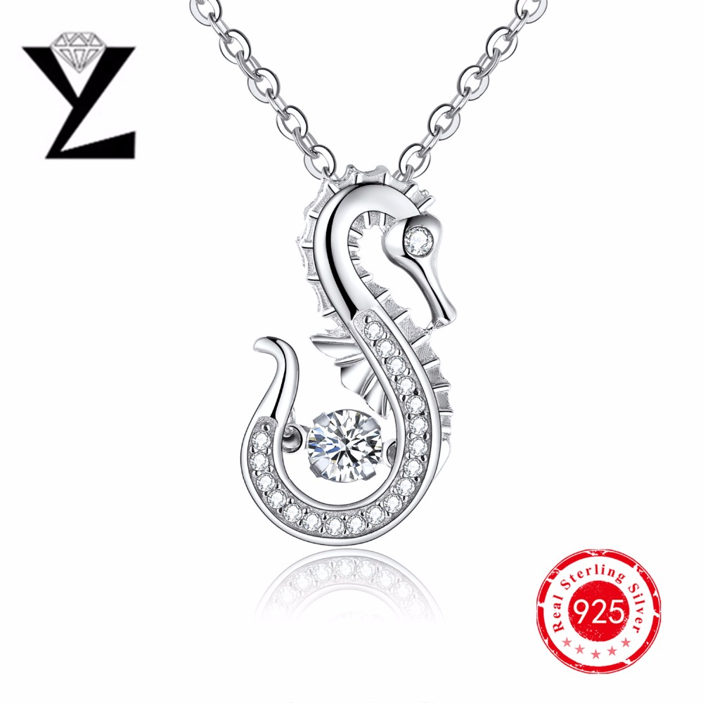 2016 personalized Pendant necklace for women aaa dancing CZ diamond pendant white gold plated pendant necklace