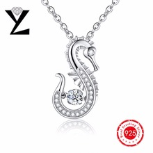 2016 personalizada collar Colgante para las mujeres aaa CZ colgante de diamantes colgante de oro blanco collar de baile para Christma Regalo