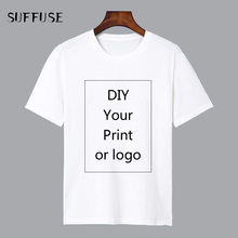 Customized Print T Shirt for Men DIY Your like Photo or Logo