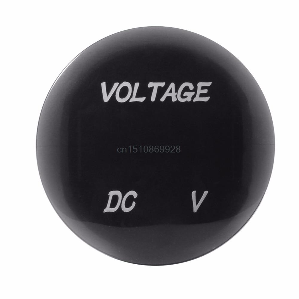 Autó motorkerékpár DC12V-24V zöld LED panel digitális - Mérőműszerek - Fénykép 4