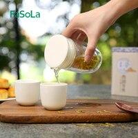 FaSoLa Japanese portable Kung Fu tea set simple outdoor travel glass a pot two cup filter tea set High grade