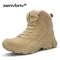 Brand Men's Boots Military boot Combat Mens Chukka Ankle Bot Tactical Big Size 39 46 Army Bot Male Shoes Safety Motocycle Boots
