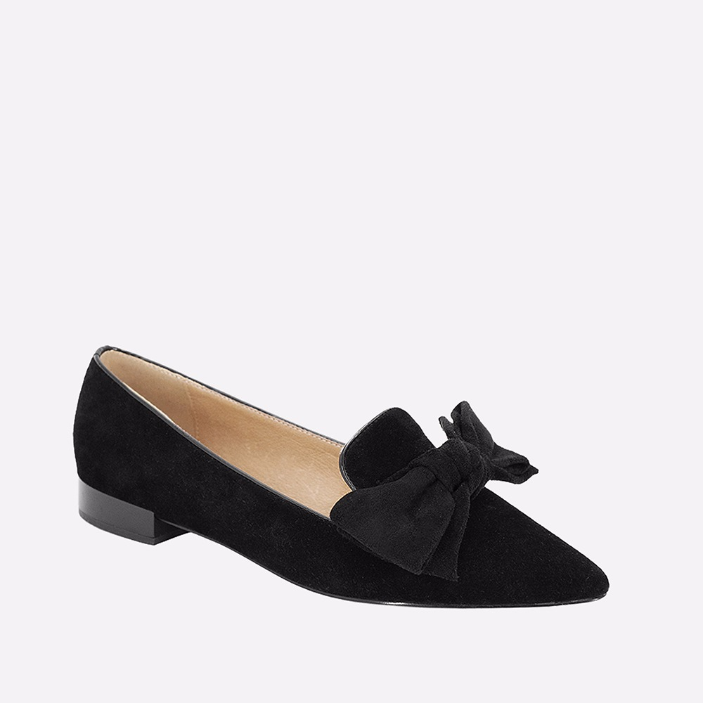 SOPHITINA Fashion Butterfly-knot Lady Flats High Quality Black Genuine Leather Pointed Toe Flats Comfortable Low Heels Shoes p26 цены онлайн