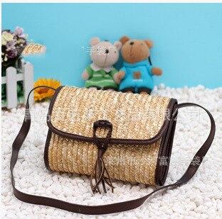 25x17 СМ соломы сумка Простой моды соломы сумка женская сумки A2381
