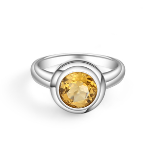 Image 2 - GEMS BALLET Natural Citrine Classic Jewelry Set 925 Sterling Silver Earrings Ring Set For Women Wedding Gift Fine Jewelry New