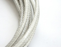 2MM, 3MM 20M,304 stainless steel wire rope with PVC coating softer fishing coated cable clothesline traction rope lifting l