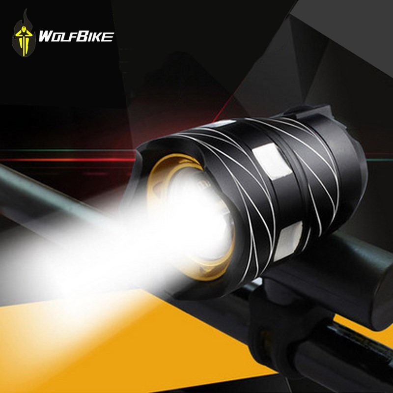 WOSAWE 2000LM Bicycle Lights T6 LED USB Rechargeable Cycle front light Zoomable Built-in Battery Aluminum Alloy Bike Light Torch 3 6v 2400mah rechargeable battery pack for psp 3000 2000