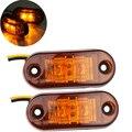 2 pcs 12 V 24 v Carro levou lado marcador de luz para o caminhão de Reboque Submersível lâmpada Largura Lâmpada de Apuramento Carro Styling