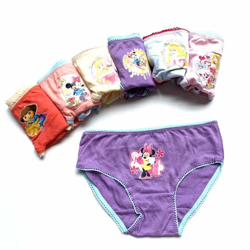 12 قطعة/الوحدة طفل بنات الكرتون تصاميم الملابس الداخلية القطن الأطفال سراويل قصيرة الاطفال سراويل atnn0002