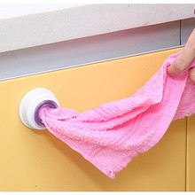 1pc Washcloth Clip Holder Wash Cloth Storage Rack Hook Detachable Towel Organizer Hanger Household Kitchen Accessories