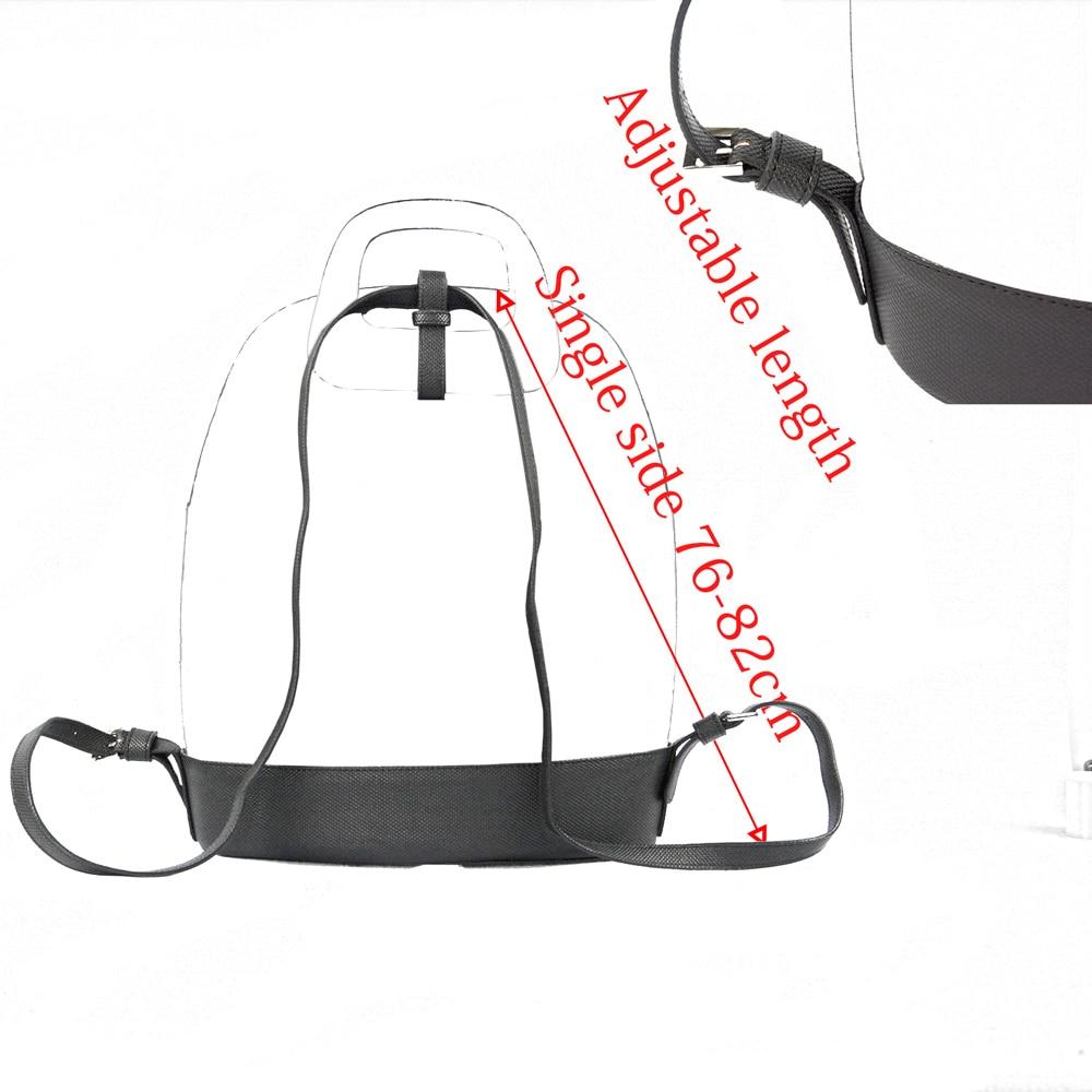 Image 5 - New D Buckle Oblong Handle Slim PU Leather Strap for O Bag 50  Belt Bottom Backpack Kit Combination Set for Obag 50Bag Parts