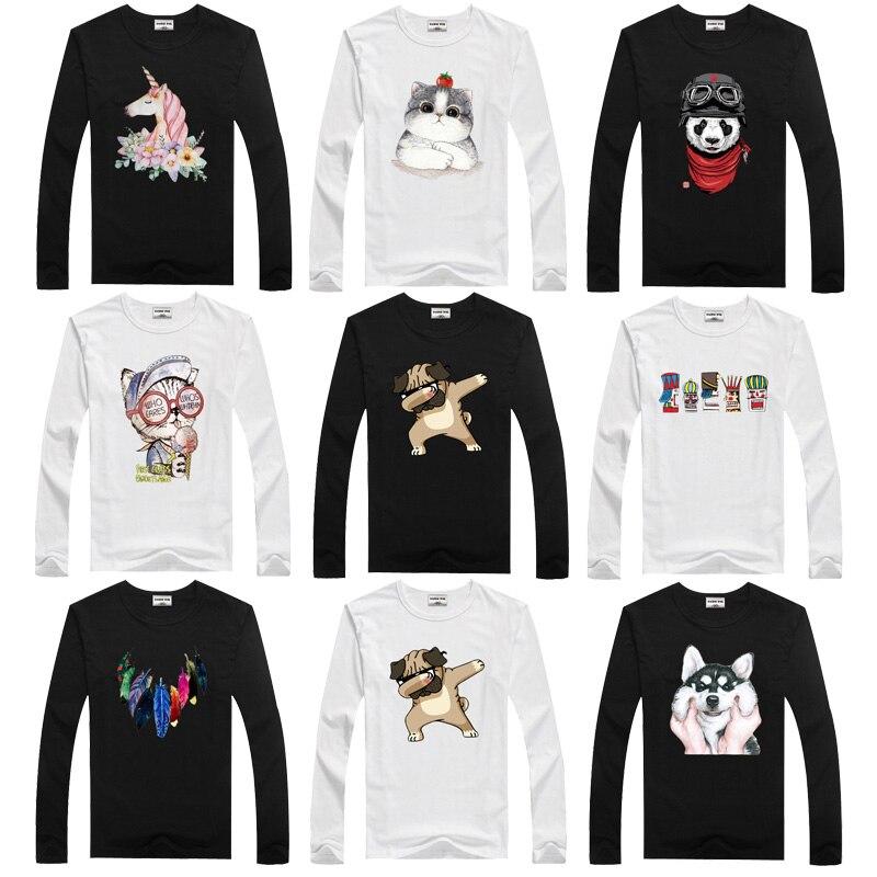 Unicorn T-Shirt Tees Tops Dmdm Pig Spring Kids Clothes Long-Sleeve Autumn Girls Boys
