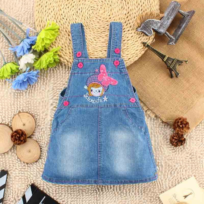 Bosudhsou Girls Jeans Skirt Baby Girl Denim Cat Denims