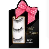 NEWCOME 3 pairs/set 3D mink eyelashes long lasting mink lashes natural volume eyelashes extension false eyelashes