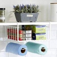 Multifunctional Door Storage Rack Kitchen Cabinet Drawer Organizer Basket Paper Towel Roll Kitchen Storage Holder