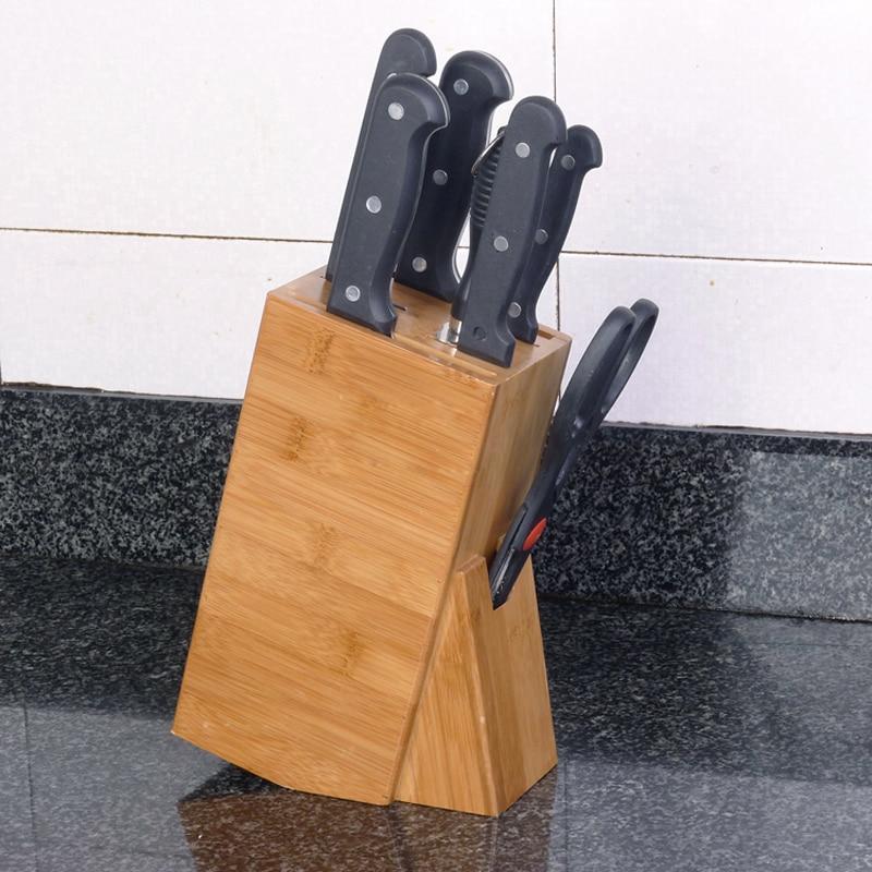 kitchen supplies online dishwasher bamboo knife holder wood multifunctional block health utensils storage rack