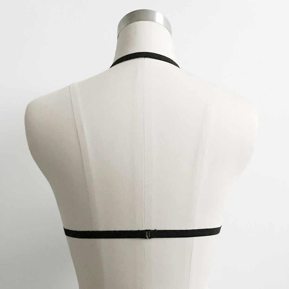 مثير الملابس الداخلية ضمادة النساء السيدات الصدرية مرونة قفص البرازيلي Strappy و الجوف خارج الرسن البرازيلي بوستير أعلى bralette دانتيل فام 50 *