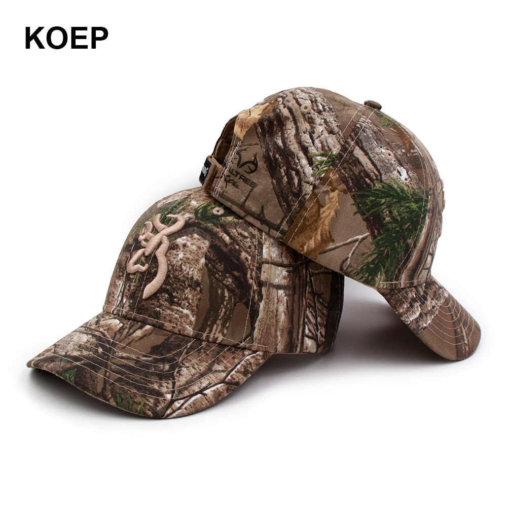 pretty nice dc59b 3a7b3 ... get koep browning camo baseball cap fishing caps men outdoor hunting  camouflage jungle hat airsoft tactical
