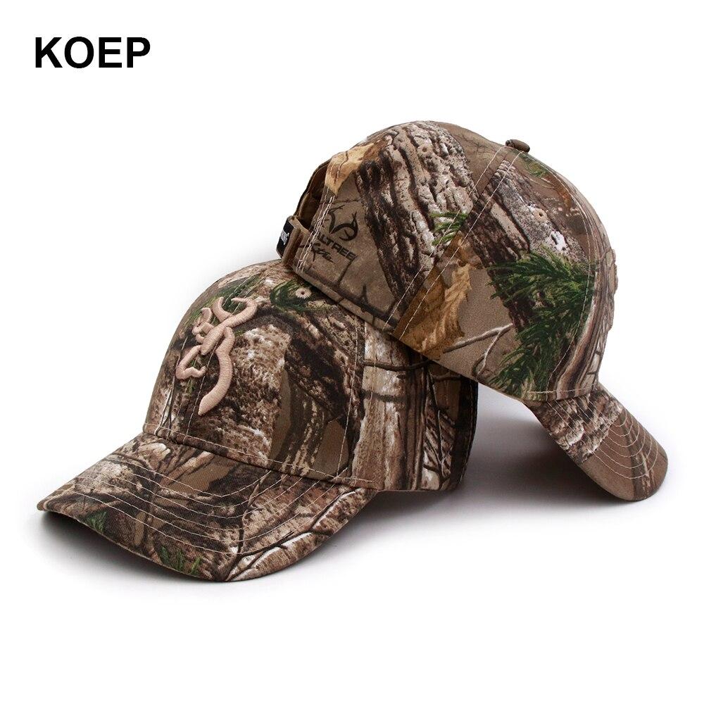KOEP Browning Camo Baseball Kappe Angeln Caps Männer Outdoor Jagd Camouflage Dschungel Hut Airsoft Taktische Wandern Casquette Hüte