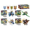 4Pcs Building Blocks Nexus Knights  Axl Clay Macy Lance Aaron Dinosaur Toy Figures Kids Gift Future Knight Bricks New
