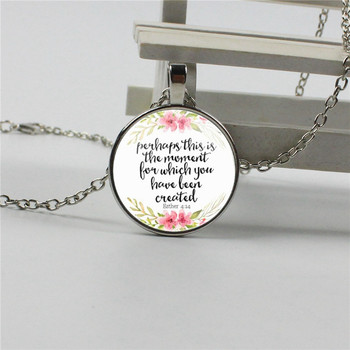 New Perhaps This Be the Moment for Which It Was Created Necklace Inspired Jewelry Esther 4:14 Christian Gifts image