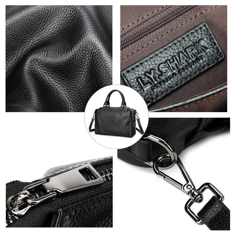 LY. SHARK сумка из натуральной кожи женская сумка на плечо для женщин 2019 сумки женские известные бренды женские ручные сумки сумка-мессенджер черная