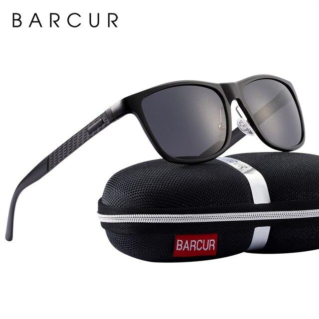 BARCUR אלומיניום גברים משקפי שמש משקפיים שמש לגברים נשים Eyewear אבזרים