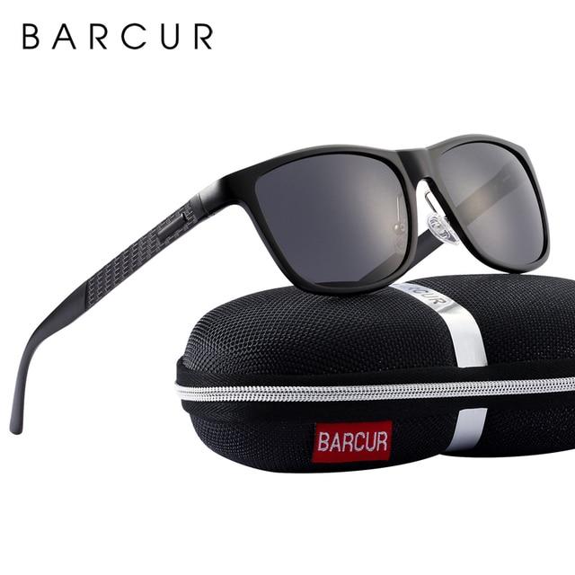 Barcur Aluminium Mannen Zonnebril Gepolariseerde Mannelijke Zonnebril Voor Mannen Vrouwen Brillen Accessoires